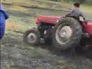 İzlenme rekoruna koşan traktörle drift videosu