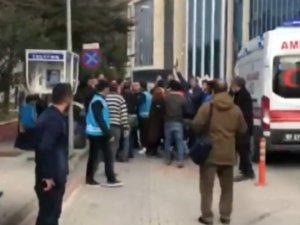 Zonguldak Adliyesi önünde silahlı kavga; 1 yaralı