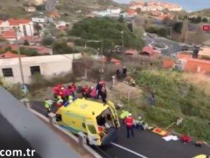 Portekiz'de turist otobüsü kaza yaptı: Çok sayıda ölü var