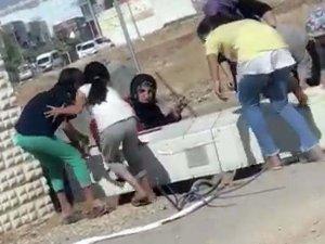 Mardin'de kaçak elektriği önleyen panoyu böyle söktüler!