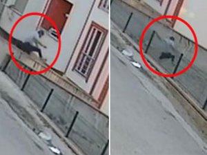 Karabük'te bina korkuluklarından atlayan adam