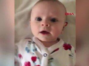 Annesinin ilk kez sesini duyan işitme engelli bebeğin o anları