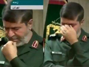 İran Devrim Muhafızları Sözcüsü gözyaşlarını tutamadı