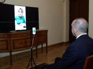 Erdoğan, Ümmü Gülsüm Genç'le canlı yayında görüştü