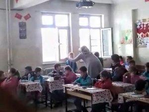 İlkokulda skandal görüntüler
