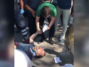 Kazada yaralanan babadan sınava girecek oğluna moral