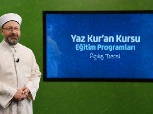 2020 yaz Kur'an kurslarının uzaktan eğitimle yapılacak!
