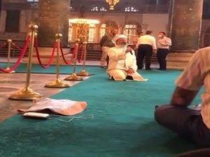Ayasofya Cami-i Şerifi'nde Ali Erbaş'tan Kuran Kur'an-ı Kerim tilaveti
