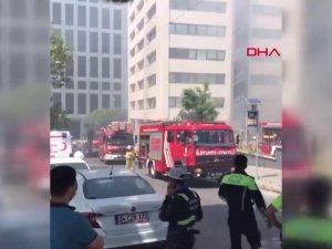 Gayrettepe'de trafoda patlama sonrası yangın