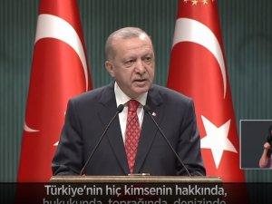 Cumhurbaşkanı Erdoğan Kabine Toplantısı'nın ardından millete seslendi