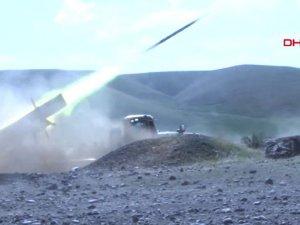 Azeri ordusu Ermeni mevzilerine bomba yağdırıyor