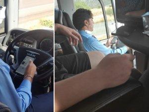Yolcu otobüsü şoföründen hayrete düşüren görüntüler!