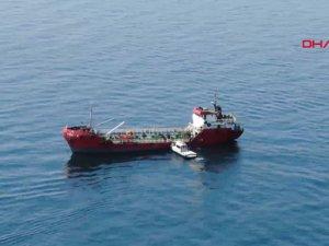 Marmara denizinde gemiye operasyon