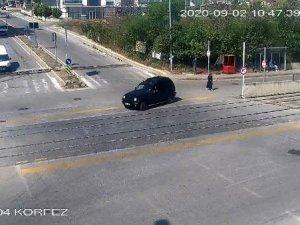 Samsun'daki tramvay kazaları kamerada