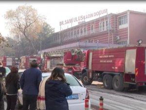 Hastanenin çamaşırhanesinde yangın çıktı