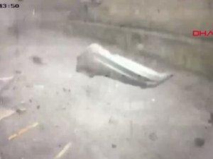 Bursa'daki lodos fırtınasının yeni görüntüleri ortaya çıktı