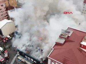 Ataşehir'de fabrikada yangın