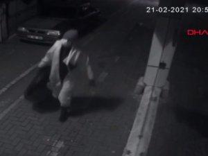Filyasyon ekibi tulumuyla hırsızlık kamerada