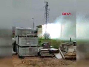 Trafo patladı, 2 ilçe elektriksiz kaldı; patlama anı kamerada