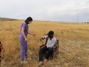 Ankara'da Tarım İşçilerine Tarlada Aşı