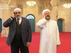Diyanet İşleriBaşkanı Erbaş, Şuşa'da ezan okudu