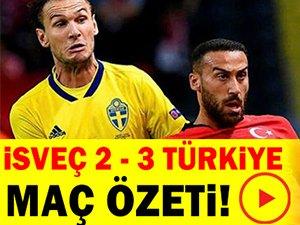 İsveç 2-3 Türkiye Maç Özeti